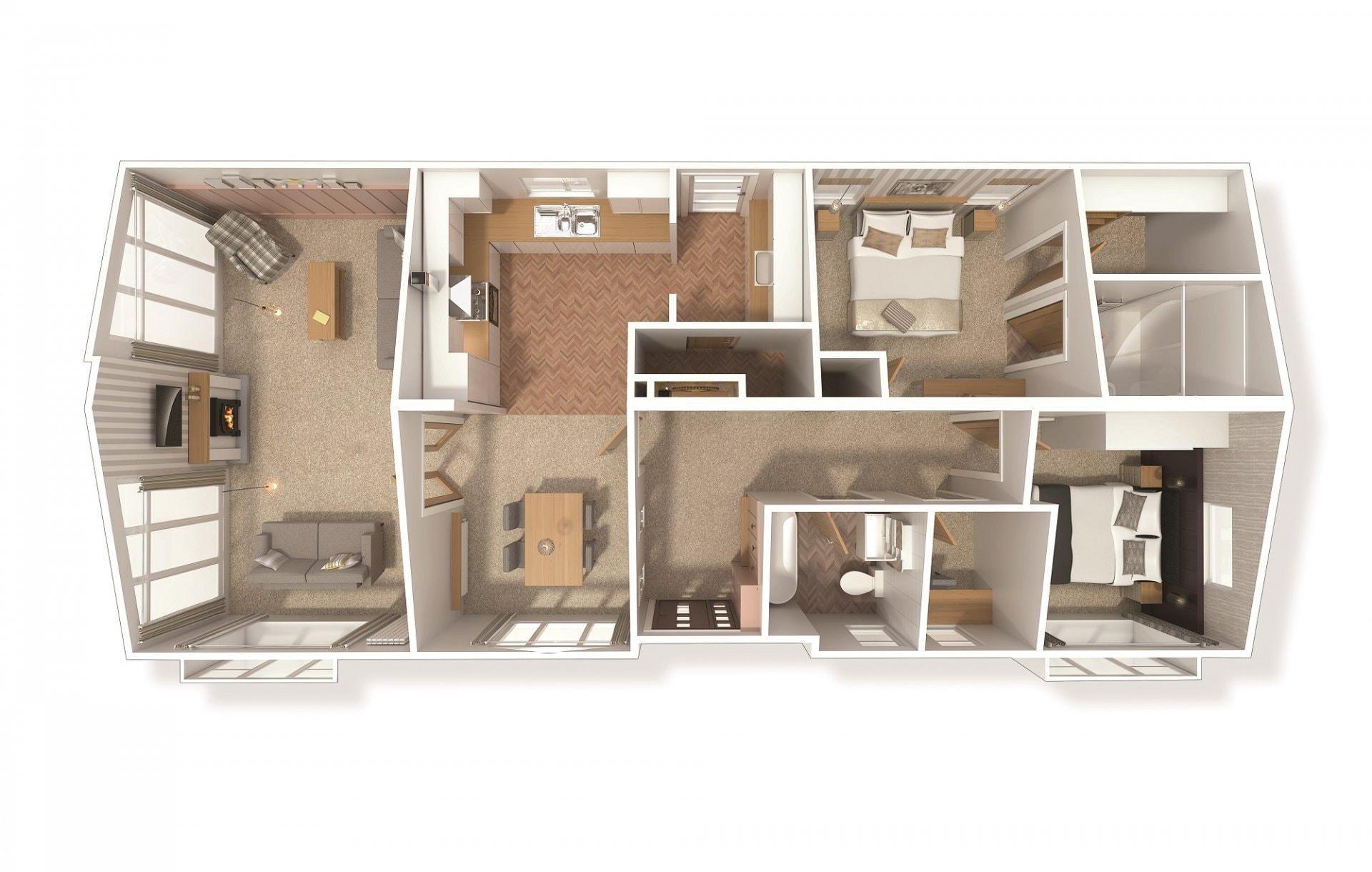 Illustrated is a 50' x 22' floorplan. You can make changes to the plan to suit your requirements.