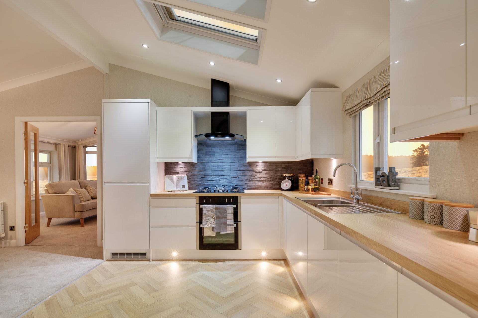 Delamere kitchen interior.