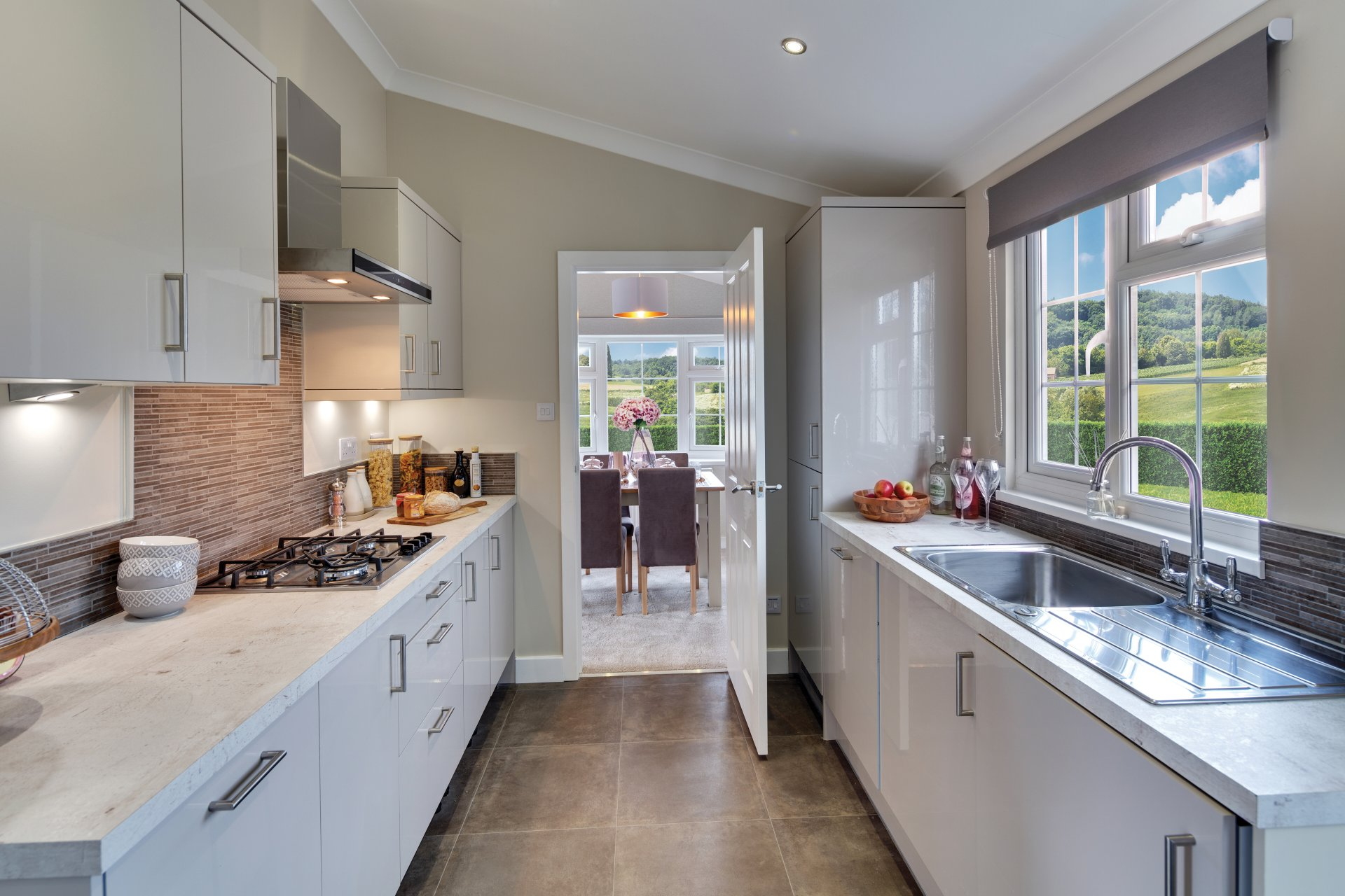 Hazlewood kitchen interior.