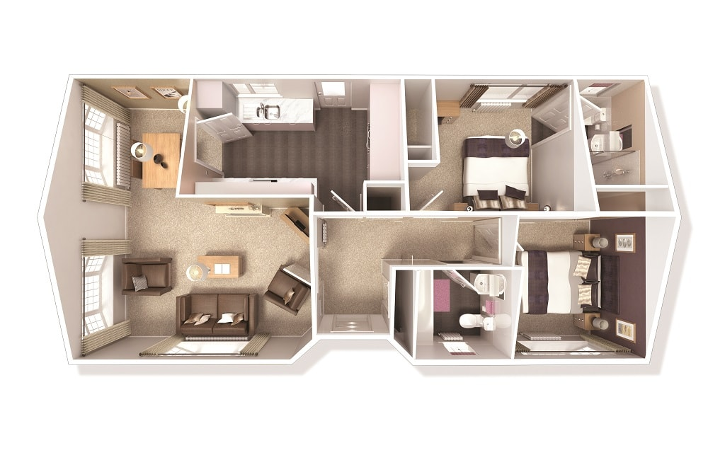 Illustrated is a 40' x 20' floorplan however you can make changes to the plan to suit your requirements.